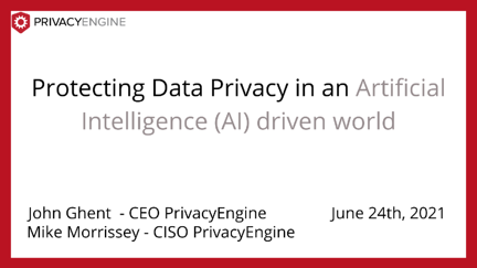 Protecting Data Privacy in an Artificial Intelligence (AI) driven world (1)