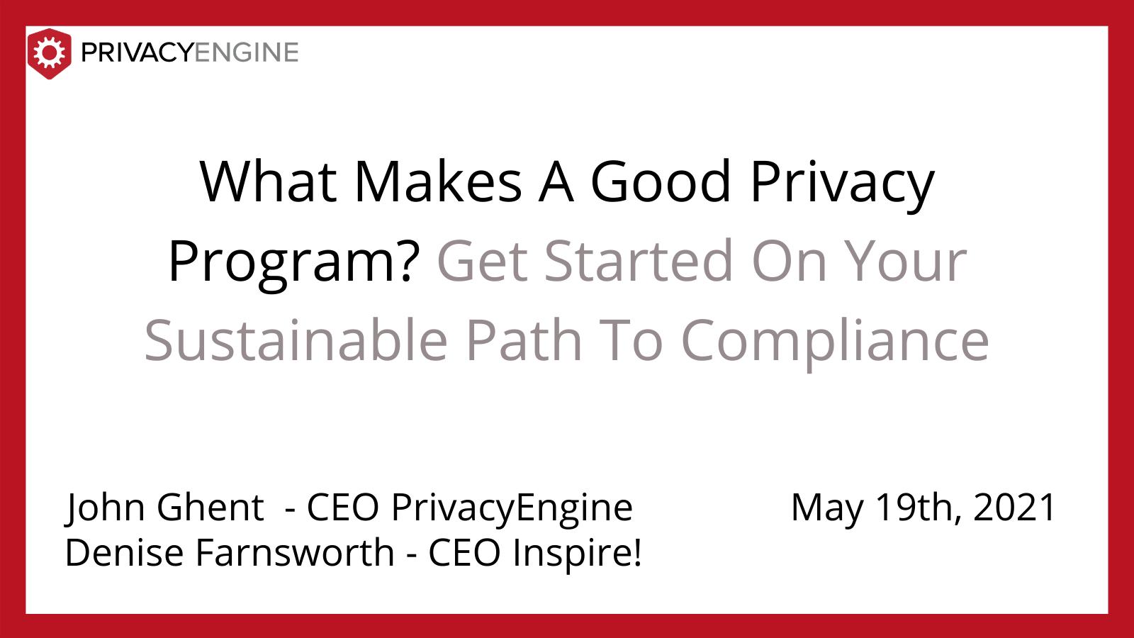 Data Privacy Program